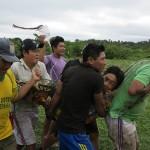 Población sharanahua (contacto inicial), durante una evacuación en la Reserva Territorial Kugapakori-Nahua-Nanti. Foto: BGB