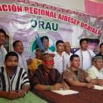 Algunos líderes indígenas de Ucayali en una reciente reunión. Foto: Cedida