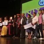 Miembros de la Plataforma, durante la entrega del Premio Nacional de Derechos Humanos en 2019. Foto: BGB
