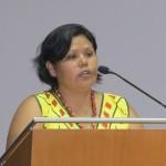 La lideresa indígena Ruth Tijé Capi, durante el 55 Aniversario de CEAS. Foto: Beatriz G. Blasco