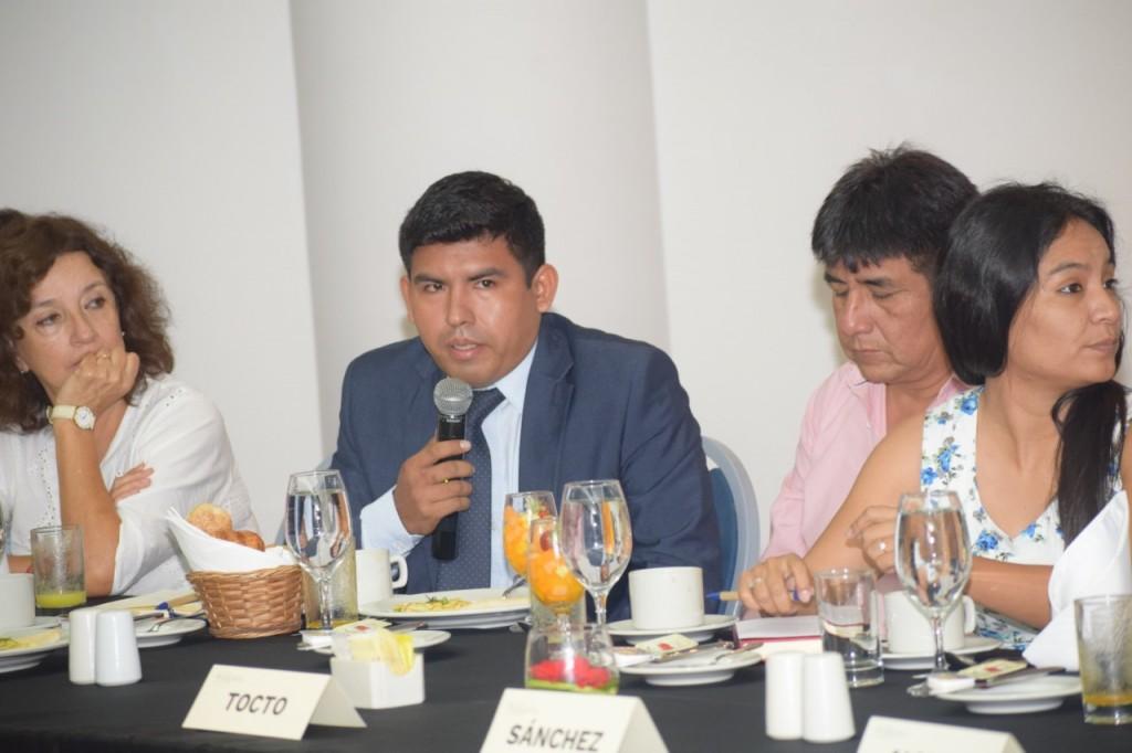 Congresista Alexander Lozano, representante de Madre de Dios, durante el evento. Foto: IRI-Perú