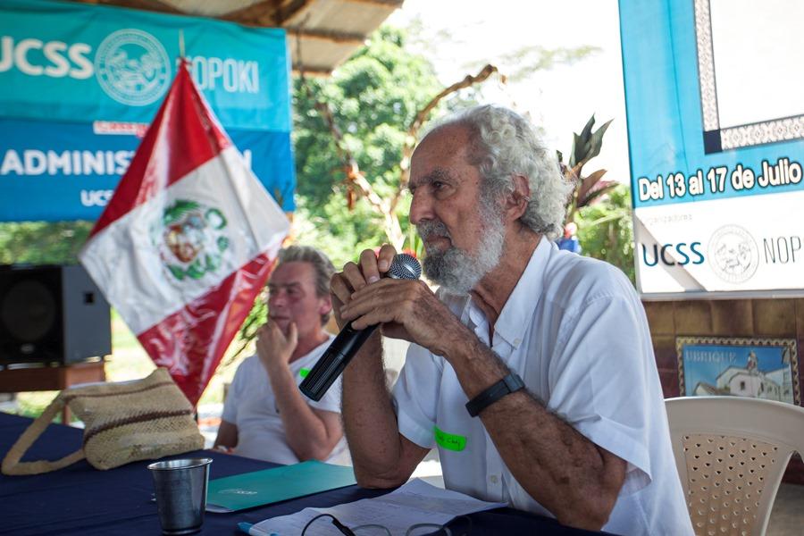 Alberto Chirif en la ciudad de Atalaya, región Ucayali, en julio de 2017. Foto: CAAAP