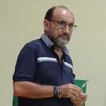 El padre Miguel Fuertes, durante una asamblea vicarial el último mes de febrero. Foto: BGB