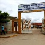Ingreso principal del Hospital Santa Rosa de Puerto Maldonado. Foto: Andina