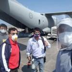 Foto difundida por el Vicariato de Iquitos sobre la llegada del vuelo.