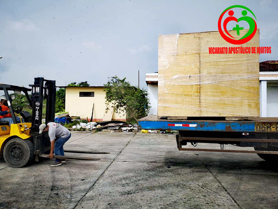 Imagen de la llegada de la planta a Iquitos, esta mañana. Foto: Vicariato de Iquitos