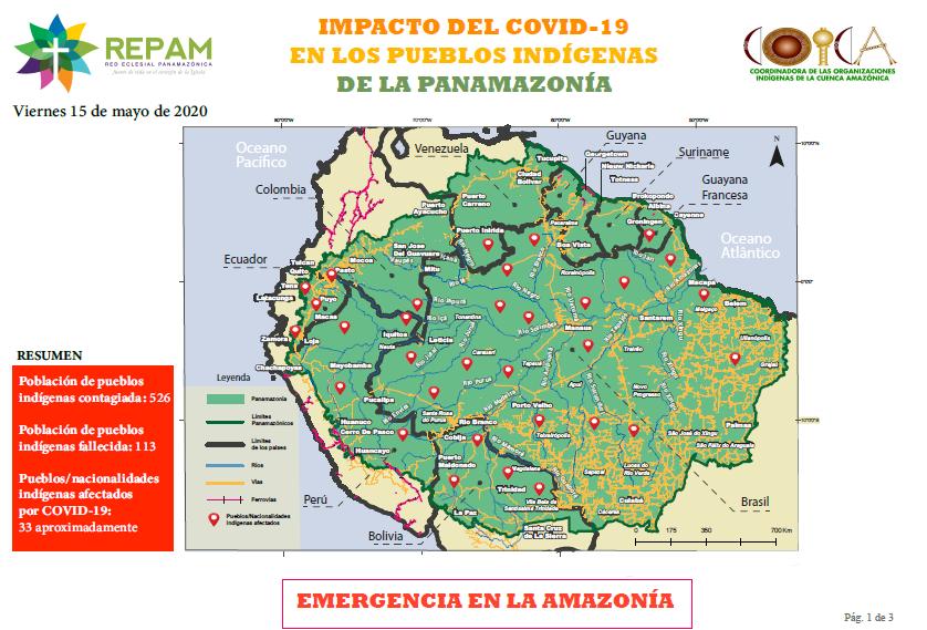 El mapeo sobre los casos de poblaciones indígenas realizado en alianza entre COICA y REPAM.