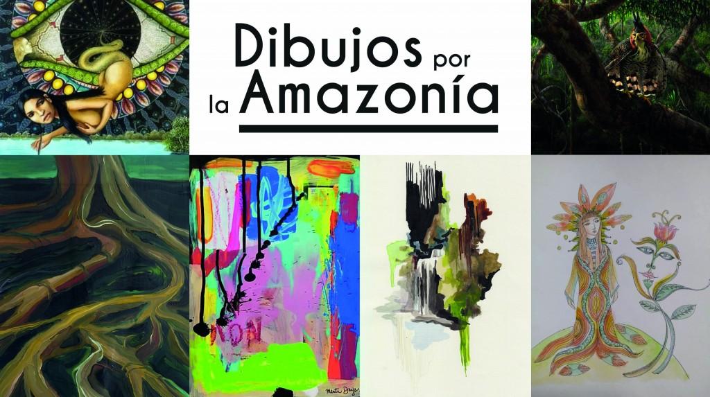 Algunas de las más de 400 obras que se han donado para esta causa solidaria. Fuente: https://dibujosxamazonia.org/
