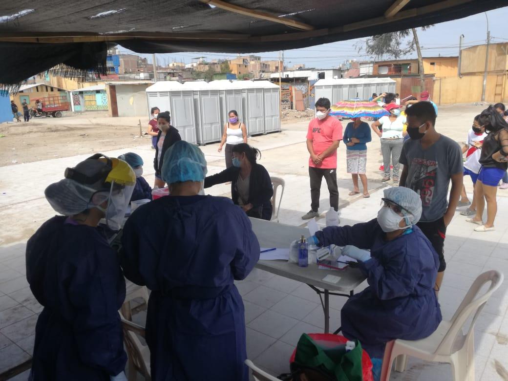 El domingo 3 de mayo el MINSA realizó 120 pruebas en Cantagallo y cerca de la mitad habrían dado positivo. Foto: Cedida