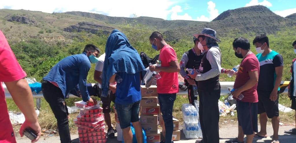 Control de Corral Quemado, en la mañana del 5 de mayo. Foto: Parroquia de Jaén