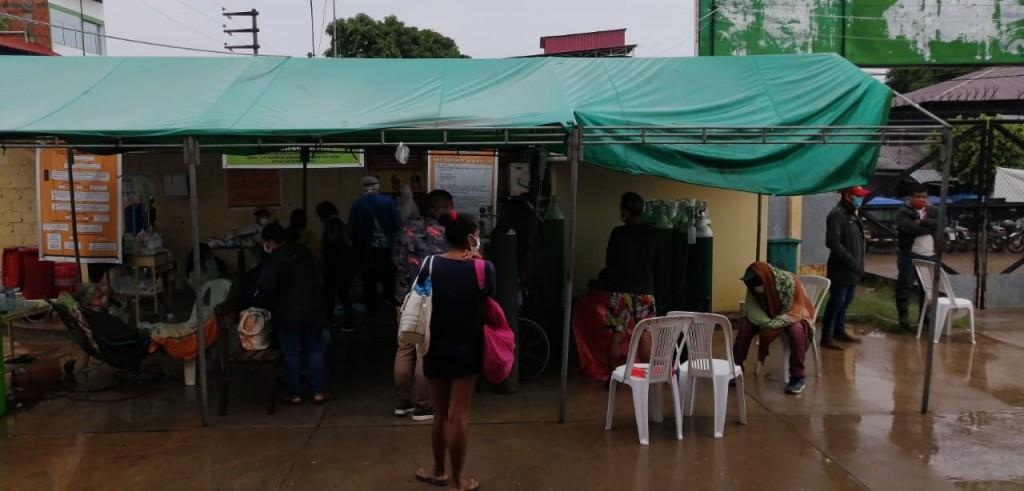 Foto: Hospital Amazónico, centro COVID-19 en Pucallpa, el día domingo.