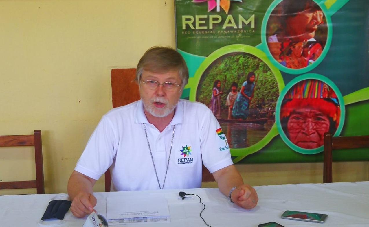 Monseñor Eugenio Coter, obispo de Pando y presidente de la REPAM-Bolivia. Foto: REPAM-Bolivia