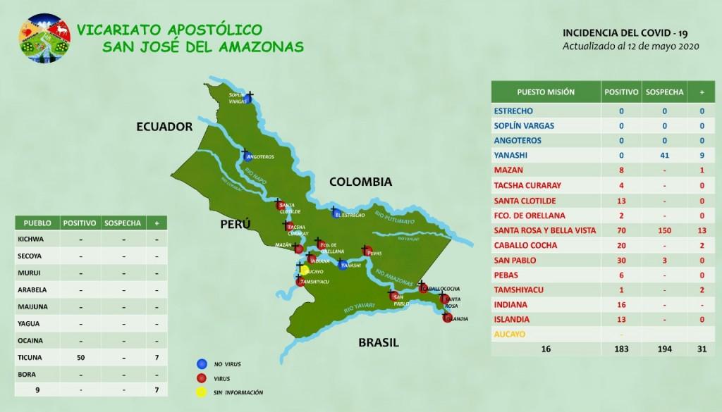 Actualización del mapa al 13 de mayo de 2020. Imagen: VSJA