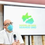 David Martínez de Aguirre, obispo de Puerto Maldonado, durante la presentación de la campaña. Foto: Paolo Peña