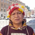 José Gregorio Diáz Mirabal, coordinador general de la Coordinadora de las Organizaciones Indígenas de la Cuenca Amazónica (COICA) en su participación en el Sínodo Amazónico. Foto archivo. ANF