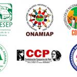Logos de las organizaciones impulsoras del pronunciamiento.