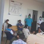 Autoridades del distrito se han reunido de emergencia tras confirmarse el primer caso. Foto: Puesto de Salud Breu
