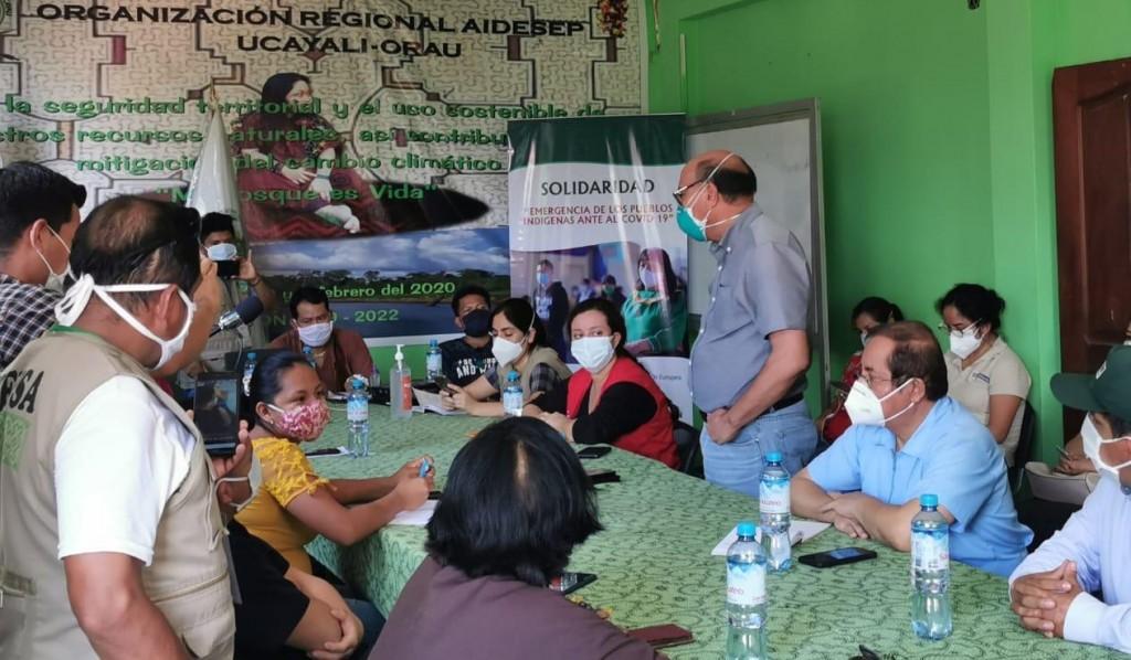 Imagen de la reunión del último sábado en Pucallpa. Foto: AIDESEP
