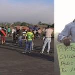 Pobladores de Purús, durante la toma del aeropuerto en horas de la mañana. Foto: Cedida