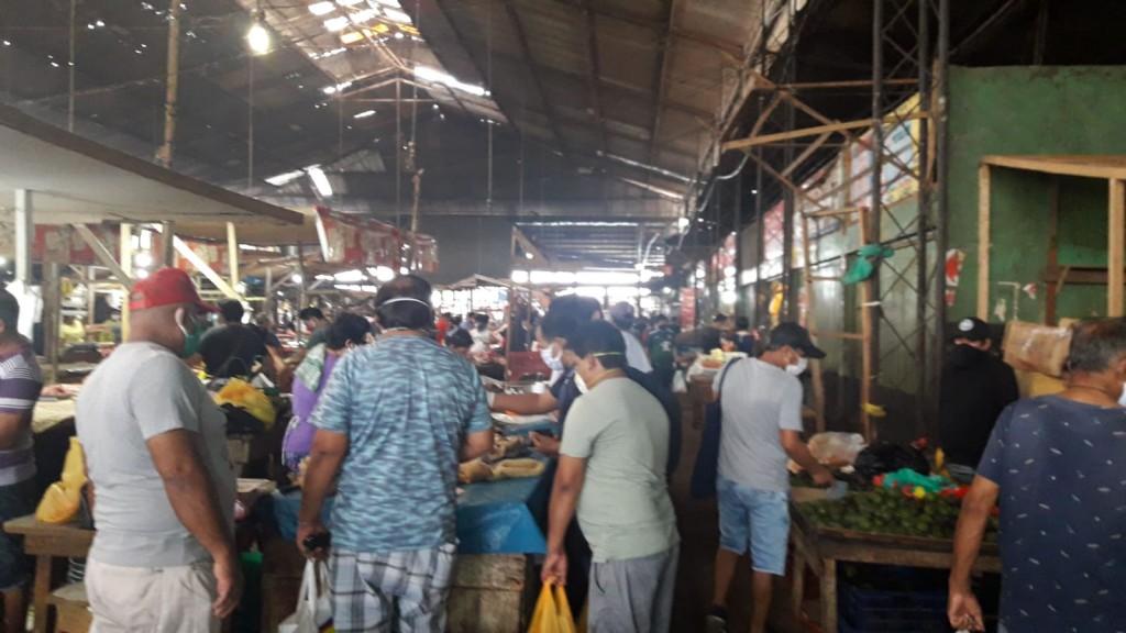 El Mercado Central de Iquitos presentaba esta imagen algunas semanas atrás. Foto: La Voz de la Selva