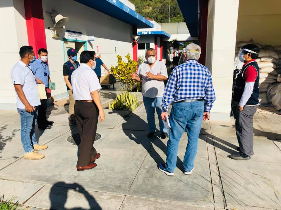 Representantes del MINSA - Lima llegaron a Chanchamayo para evaluar la instalación de una planta de oxígeno. Foto: Gobierno Regional de Junín