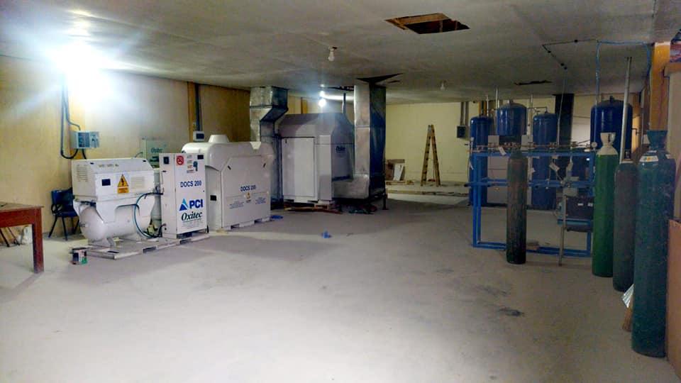 Tres plantas han sido instalados en el Hospital Regional de Loreto. Foto: Vicariato de Iquitos