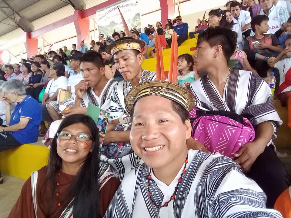 Participando del encuentro de pueblos indígenas previo a la visita del Papa a Puerto Maldonado, en enero de 2018. Foto: Cedida
