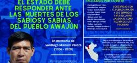 """Colectivo Amazonas: """"El Estado debe responder por la muerte de los sabios y sabias del pueblo Awajún"""""""