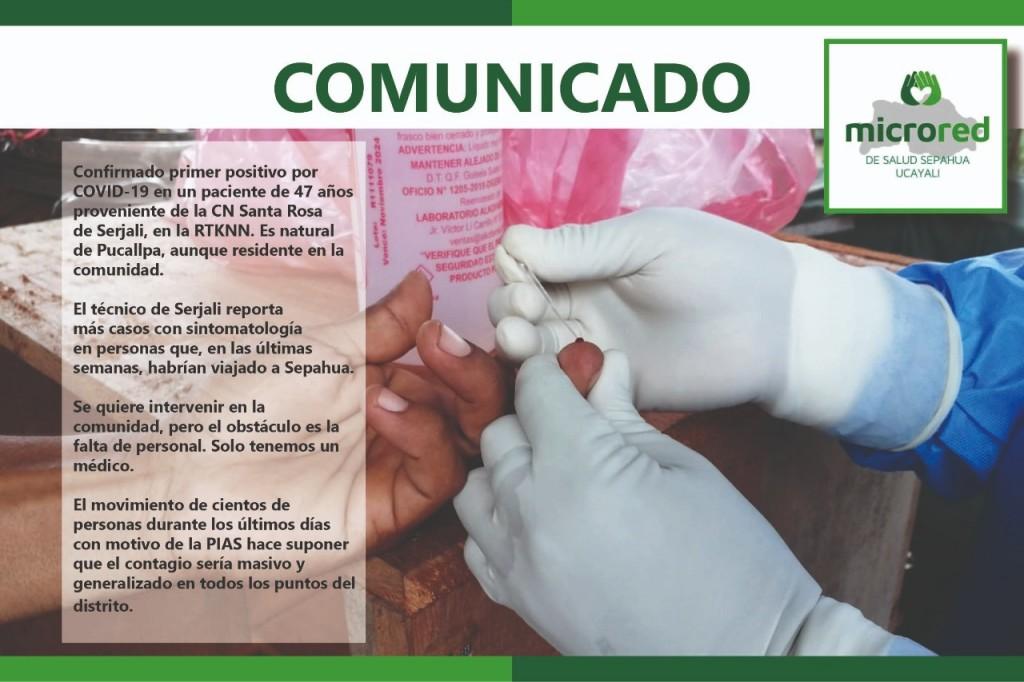 El comunicado ha sido publicado en el Facebook oficial de la Microred Sepahua. Foto: Redes