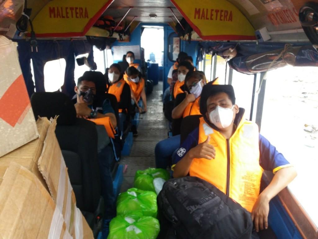 Equipo de Respuesta Rápida del PIAS viajó a Serjali el lunes en la mañana. Foto: MINCUL