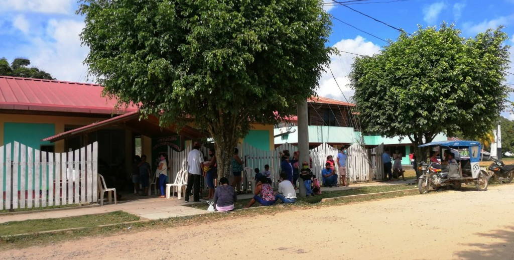 El Centro de Atención a Enfermedades Respiratorias de Sepahua recibe a decenas de personas cada día. Foto: Microred Sepahua