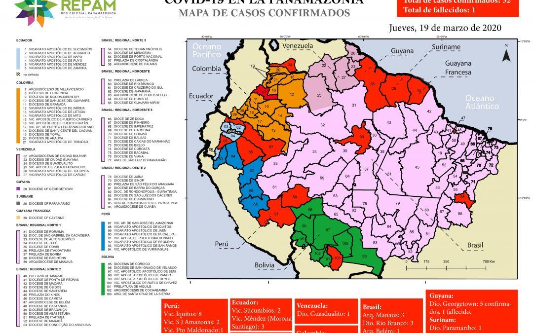 Coronavirus en la Panamazonía: Ya hay 52 casos confirmados según REPAM