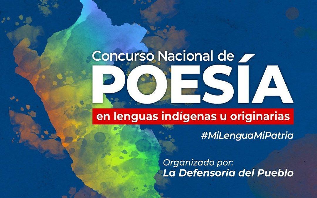 Defensoría del Pueblo lanza Concurso Nacional de Poesía en Lenguas Indígenas u Originarias