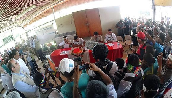 Comunidades del Lote 192 firman acuerdos con gobierno luego de 43 días de movilización pacífica