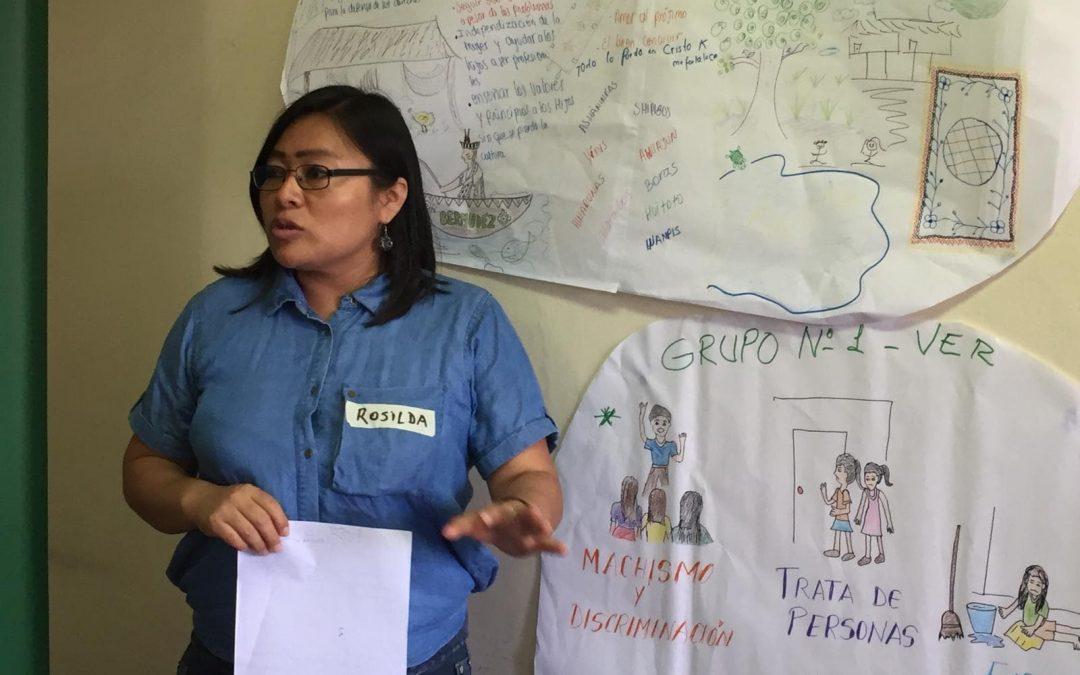 """Rosilda Nunta, AIDESEP: """"Hombres y mujeres indígenas debemos caminar juntos por la defensa de nuestros derechos colectivos"""""""