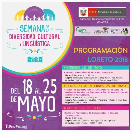 Mañana inicia en Iquitos la Semana de la diversidad lingüística y cultural