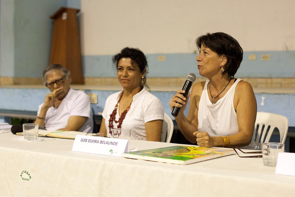 Aproximaciones al futuro de la Amazonía, mesa con especialistas