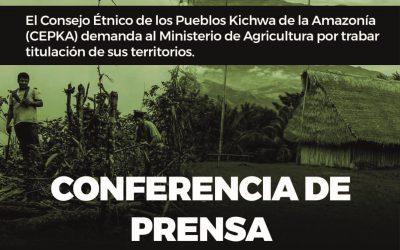 San Martín: CEPKA, Consejo del pueblo Kichwa, denuncia al MINAGRI por trabar titulación de sus territorios