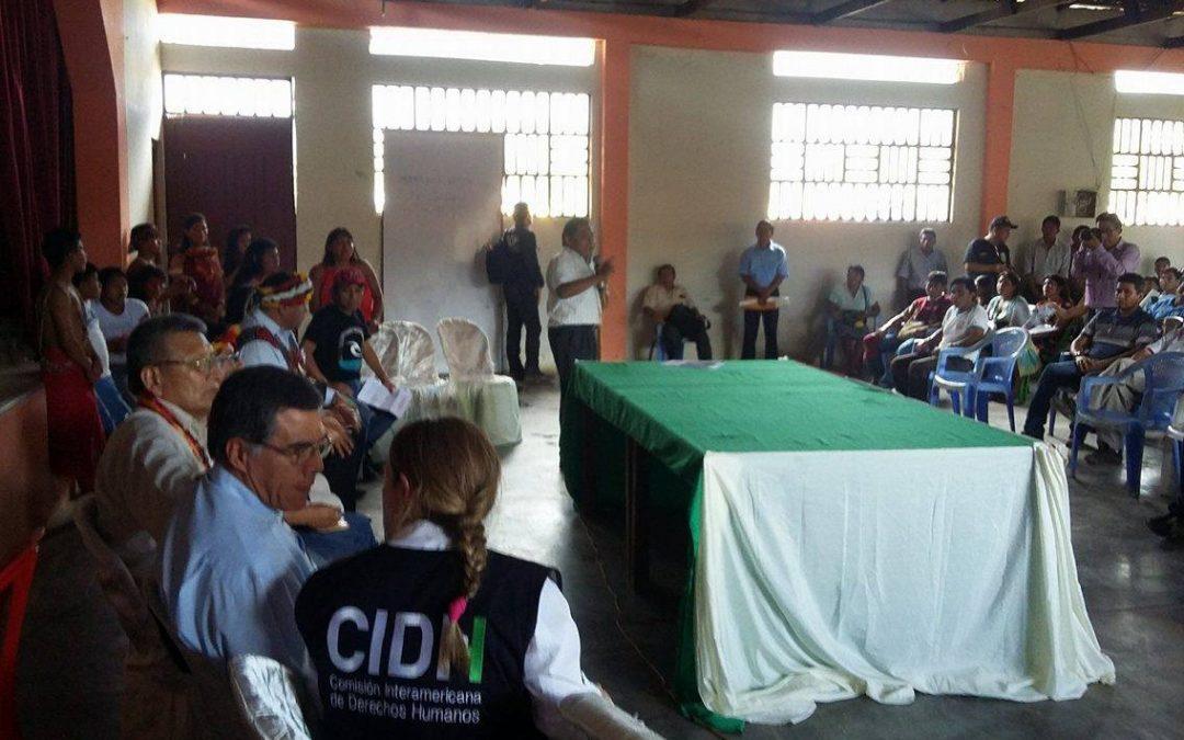 Delegación de la CIDH escucha a afectados por derrame petrolero en Chiriaco