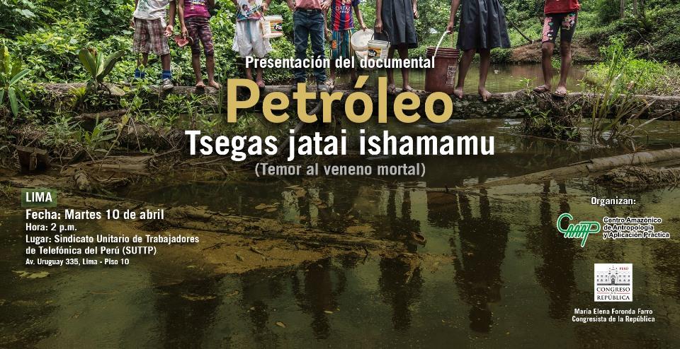 Hoy presentan en Lima documental sobre afectados por derrame petrolero en Chiriaco
