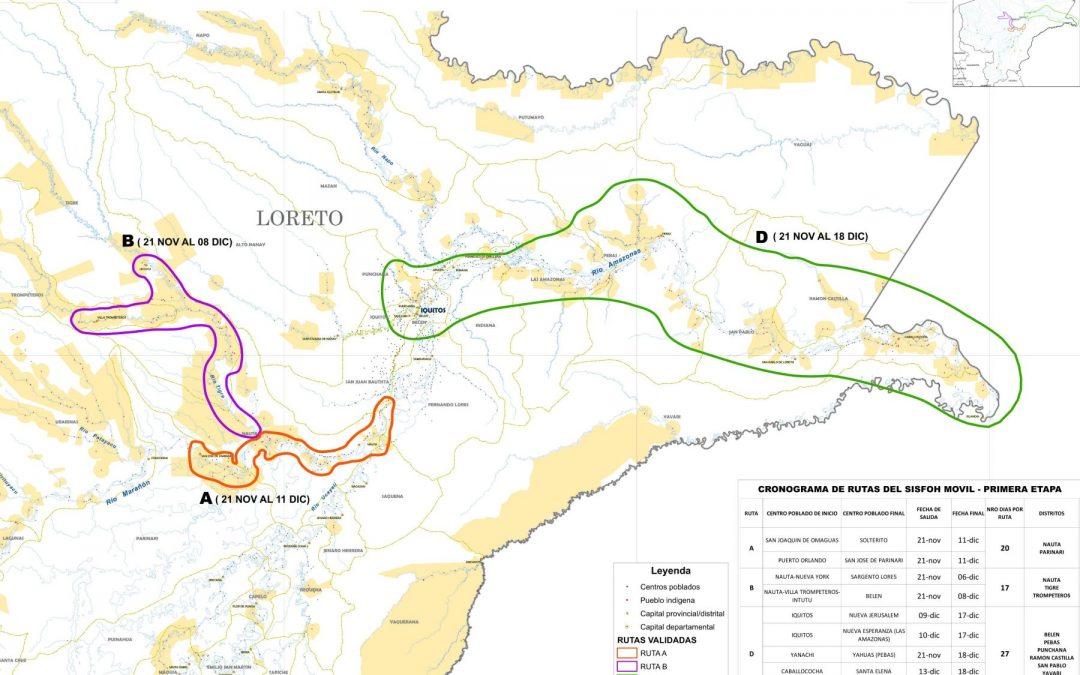 Empadronan a familias indígenas de Loreto para acceder a programas sociales