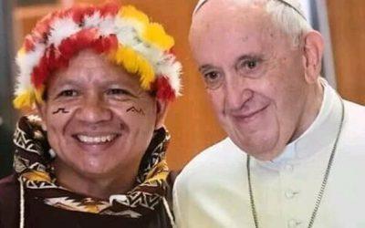 """Díaz Mirabal al Papa Francisco: """"Haga un llamado a la ONU, ya que los gobiernos no oyen a los pueblos indígenas"""""""