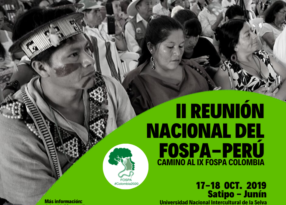 Satipo: Fospa realizará II Reunión Nacional camino a IX Encuentro Internacional en Colombia