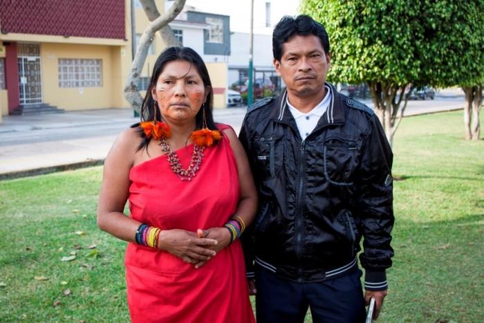 Pueblos awajún claman atención médica para niños que recogieron petróleo