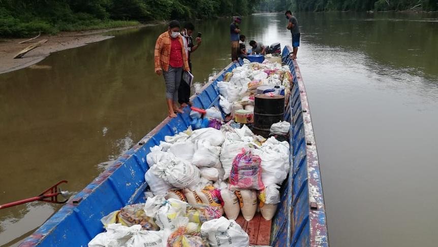 MINCUL reparte siete toneladas de alimentos y artículos de limpieza a población nahua en contacto inicial