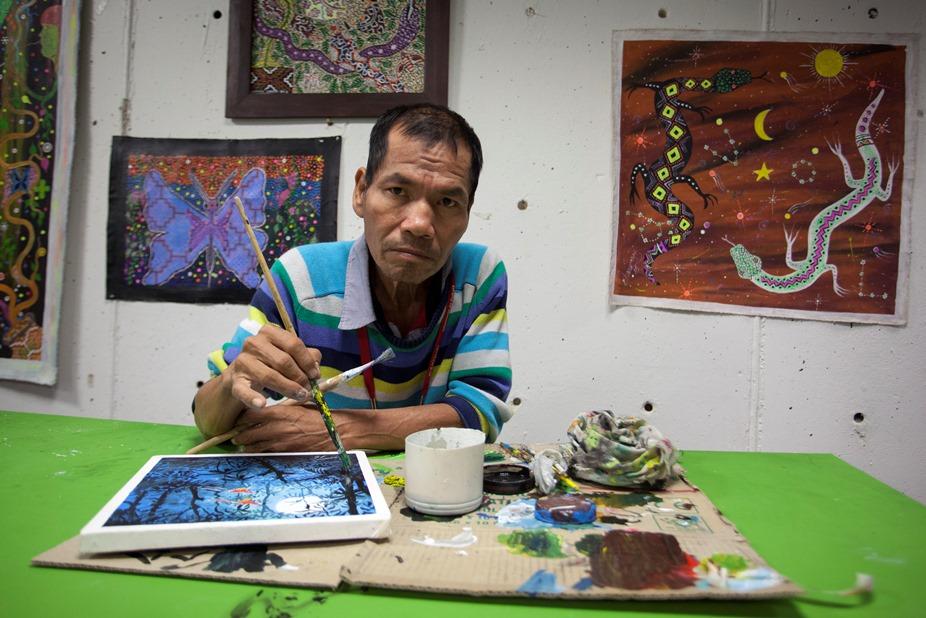 El arte shipibo-konibo pierde a uno de sus principales embajadores, Robert Rengifo