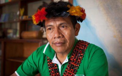 """""""Los pueblos indígenas de la Amazonía somos los más vulnerables ante el coronavirus"""". Salomón Awananch, presidente de ORPIAN-P"""