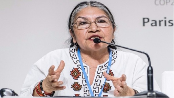 Lideresa quechua Tarcila Rivera Zea, candidata de Perú ante la ONU