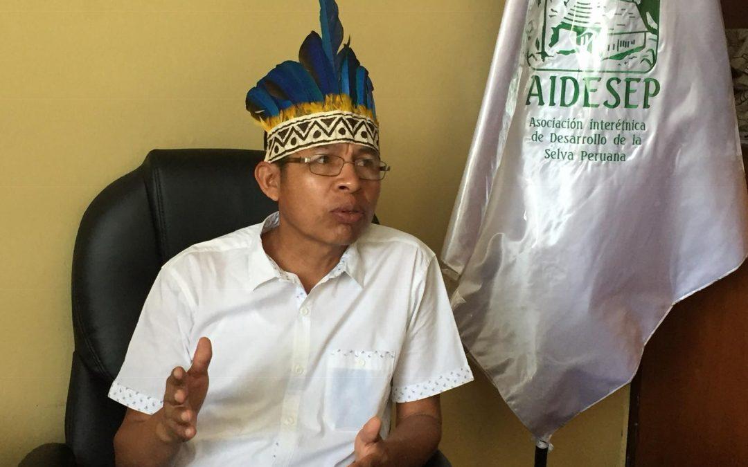 """""""Los pueblos indígenas siempre vamos a aportar porque somos parte del Perú"""". Richard Rubio, vicepresidente de AIDESEP"""