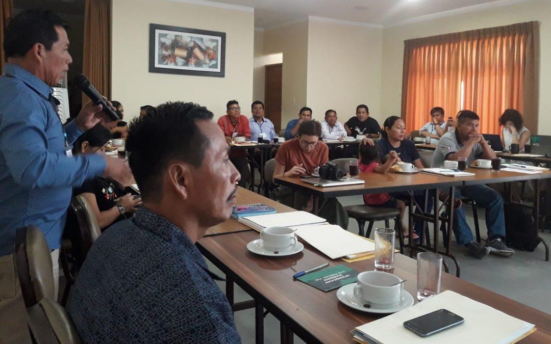 PUCALLPA: Líderes indígenas de Loreto y Ucayali reafirman su rechazo al Proyecto Hidrovía Amazónica